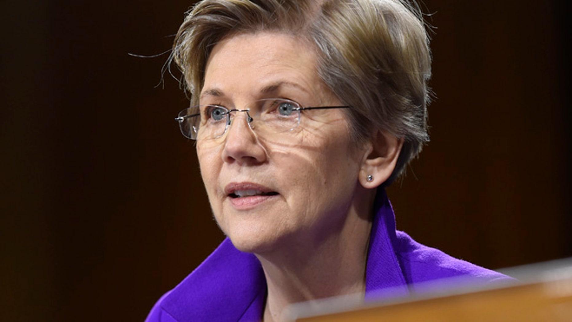 Feb. 24, 2015: Sen. Elizabeth Warren, D-Mass. is seen on Capitol Hill in Washington. (AP)