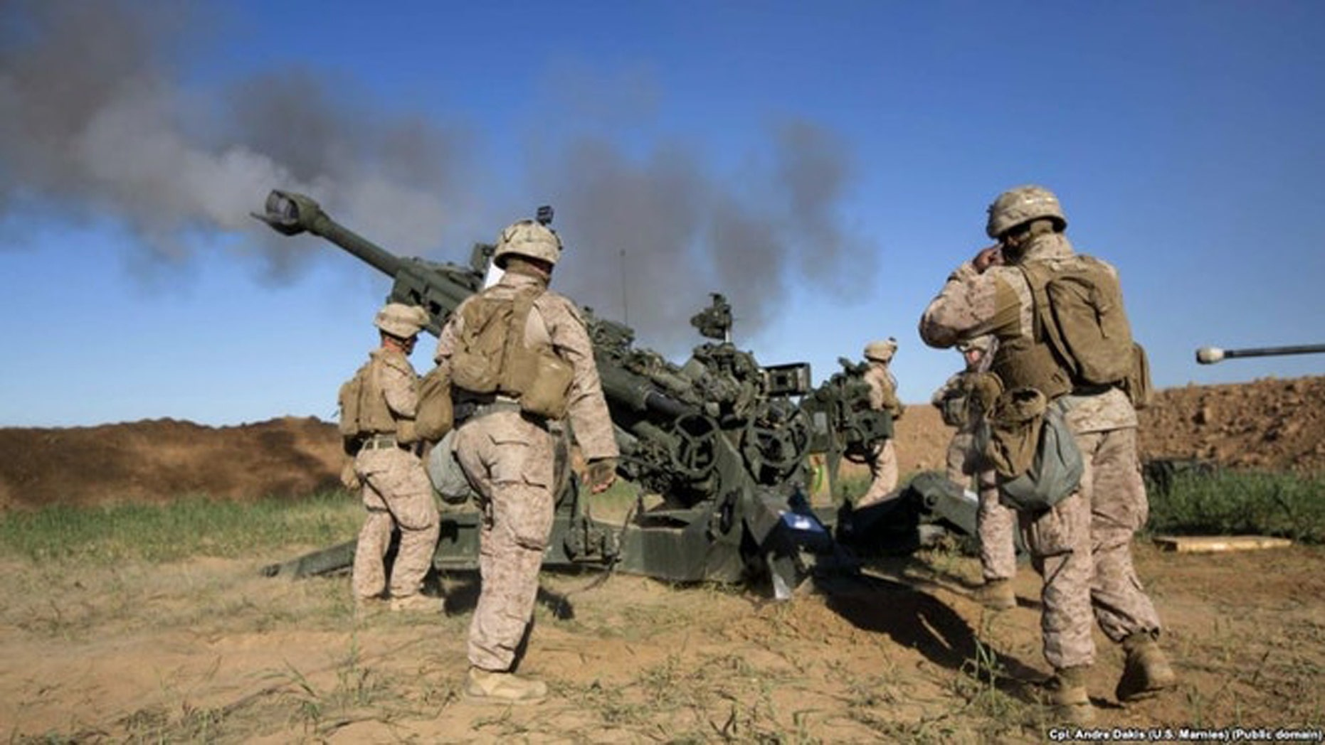 The U.S. Army is developing precision-guided 155mm rounds that are longer range and able to fire in GPS-denied war. (Credit: US Marine Corps)