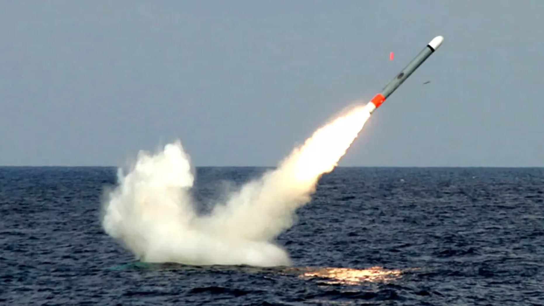 Tomahawk Cruise Missile being fired.