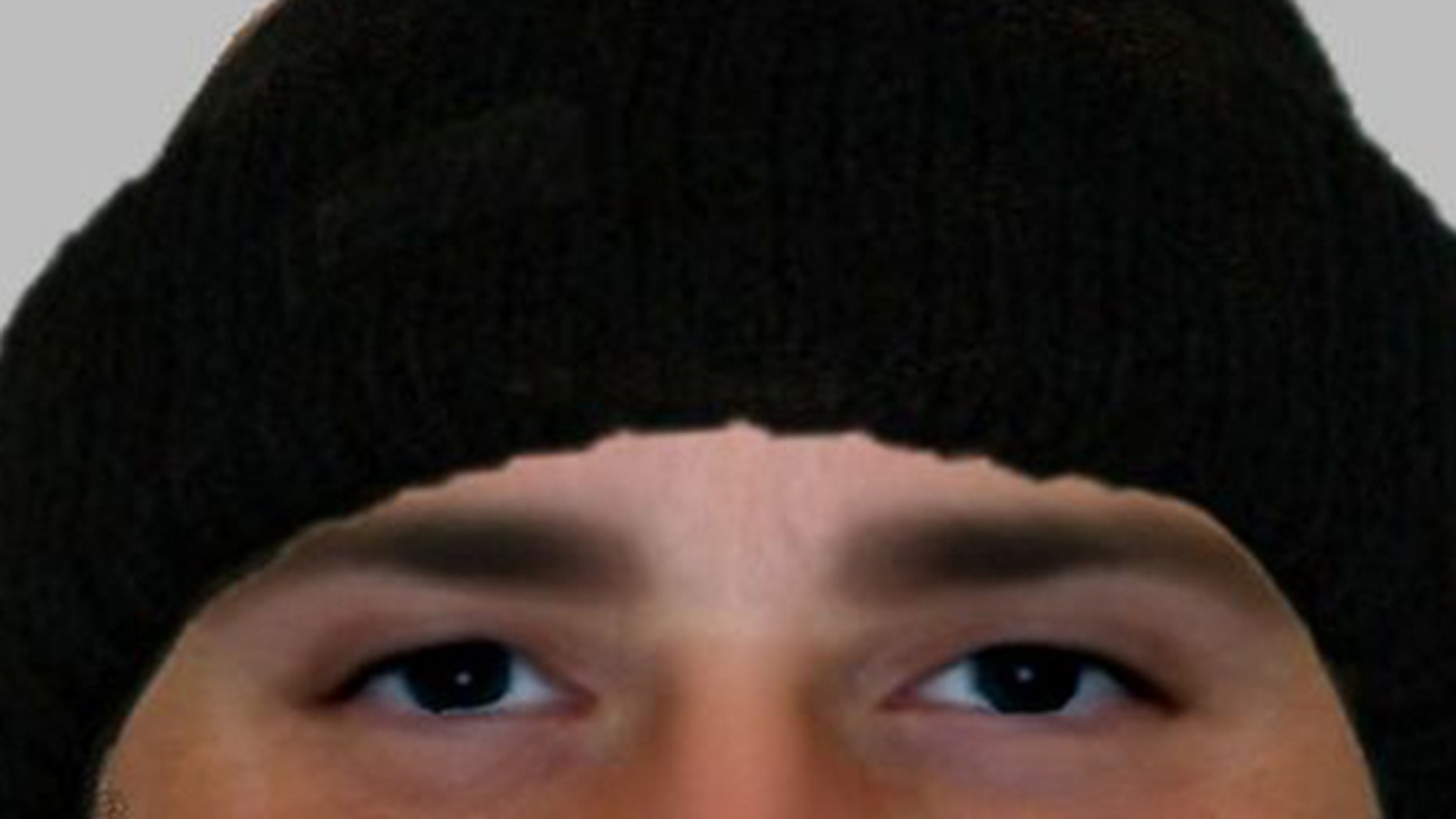 Police in England are hoping this computer-generated sketch will help them find a burglary suspect.