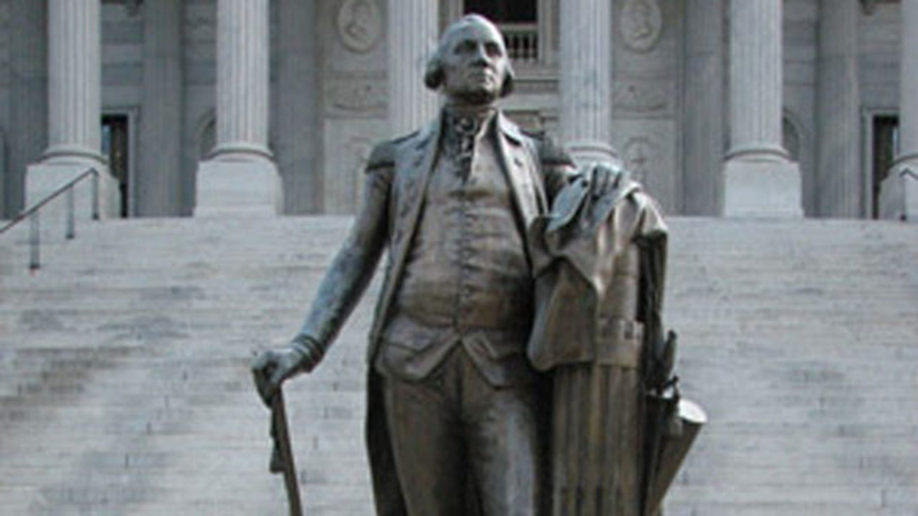 Shown here is the bronze statue of George Washington outside the State House in Columbia, S.C.