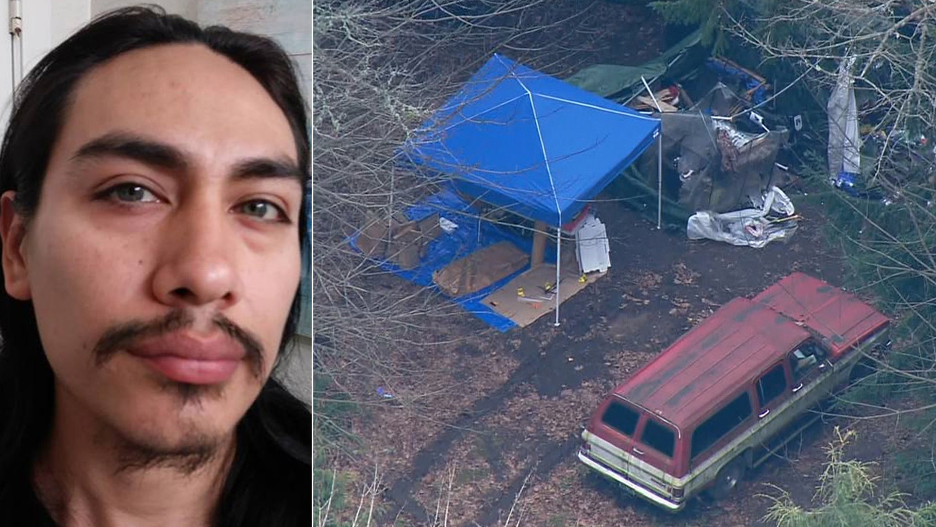 Police are searching for Jacob Gonzales, who they identified as a person of interest in the slaying of a 26-year-old woman found beheaded near a survivalist bunker in Washington.
