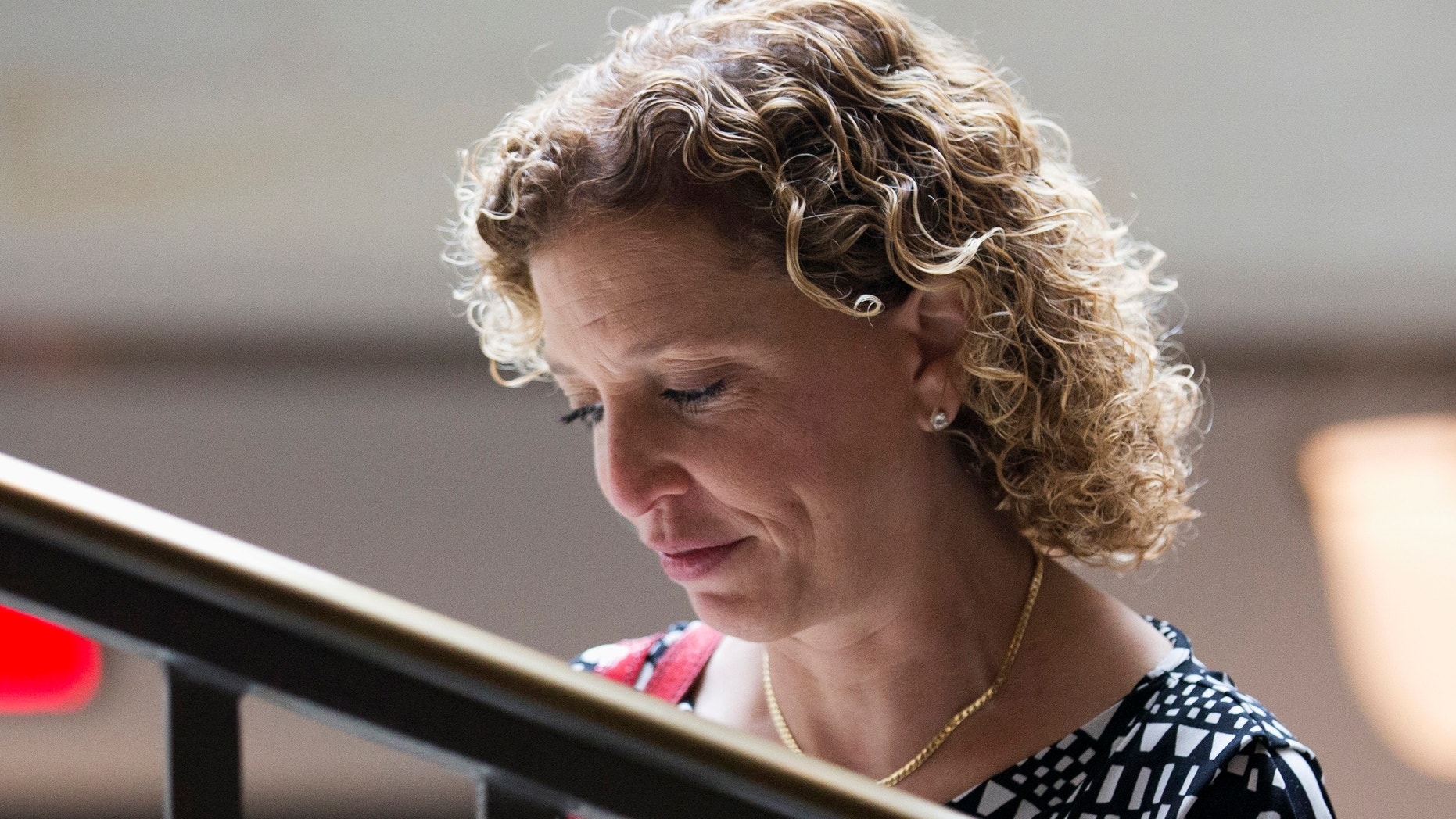 Sept. 9, 2013: Debbie Wasserman Schultz, D-Fla., leaves a closed-door briefing on Syria.