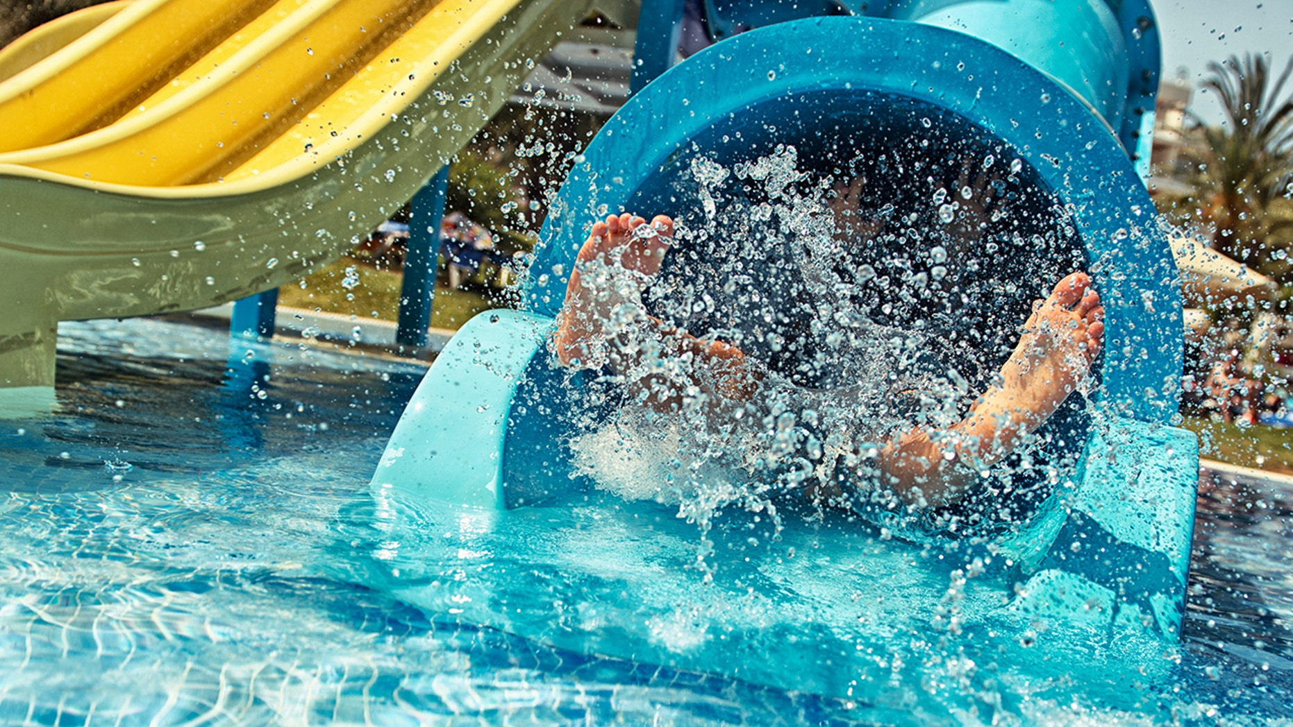 A 12-year-old girl was banned from a water slide because of her insulin pump, her mother claims