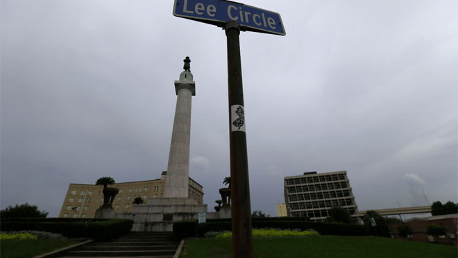 FILE 2015: The statue of Gen. Robert E. Lee stands in Lee Circle in New Orleans.