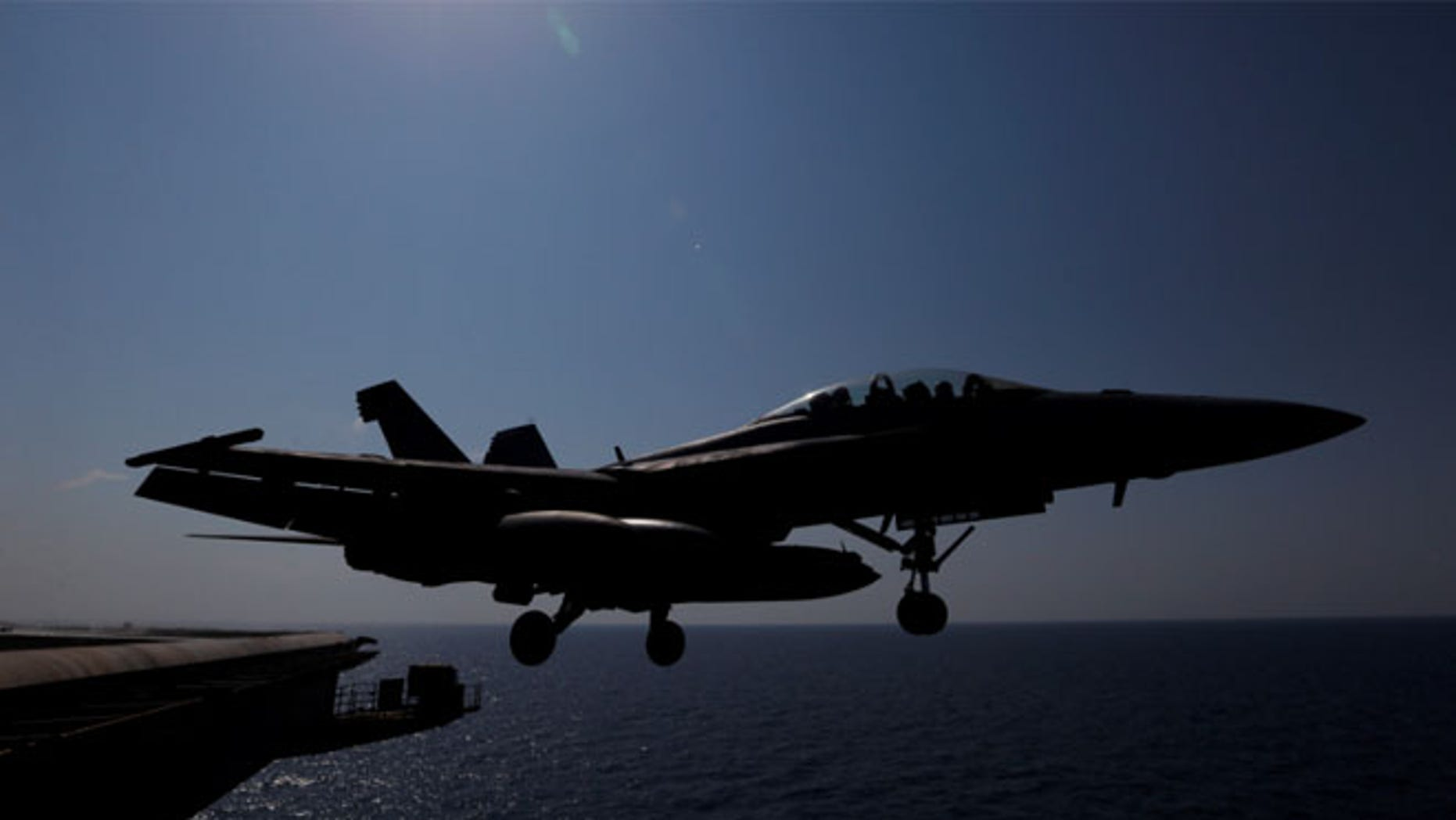 """FILE: The U.S. is looking into a """"big order"""" of Boeing's F/A-18 Super Hornets that may have stealth capabilities."""