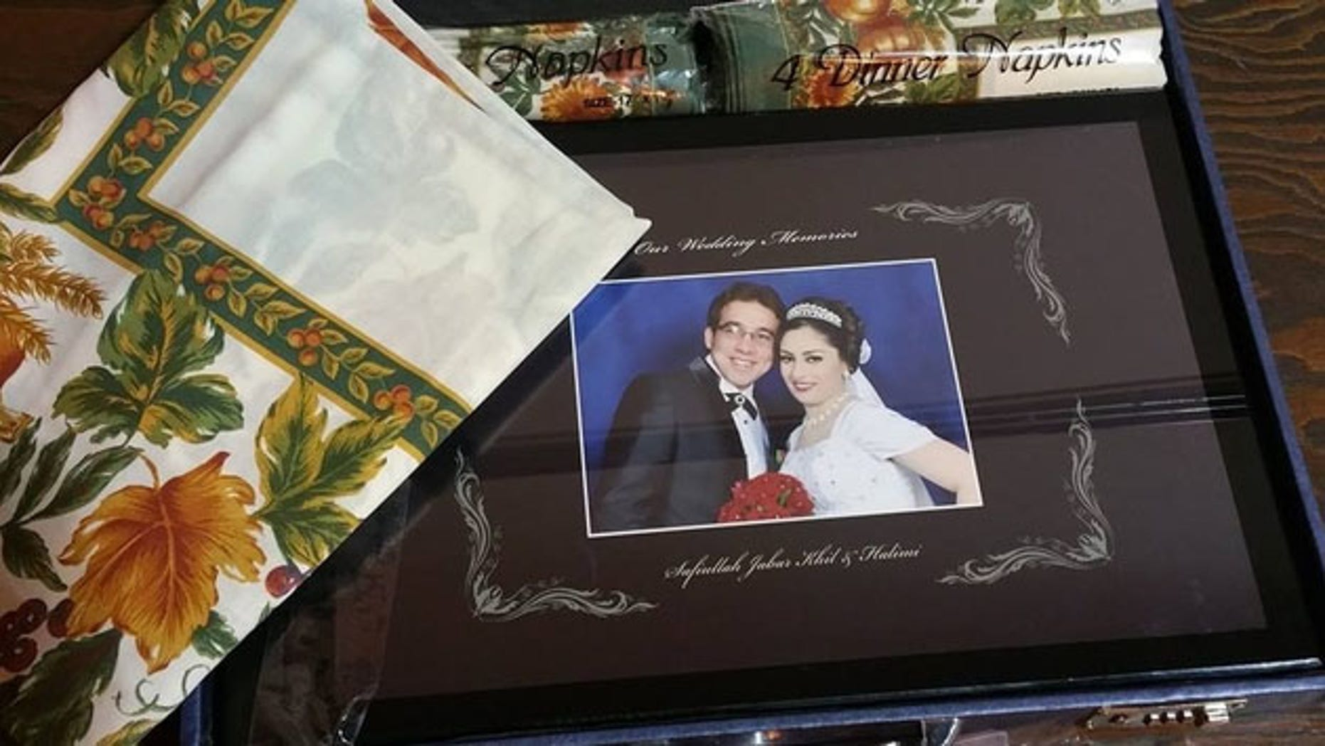 After Los Angeles Airport Police shared a post on Facebook of the photo album, the happy couple was reunited with their wedding photos.