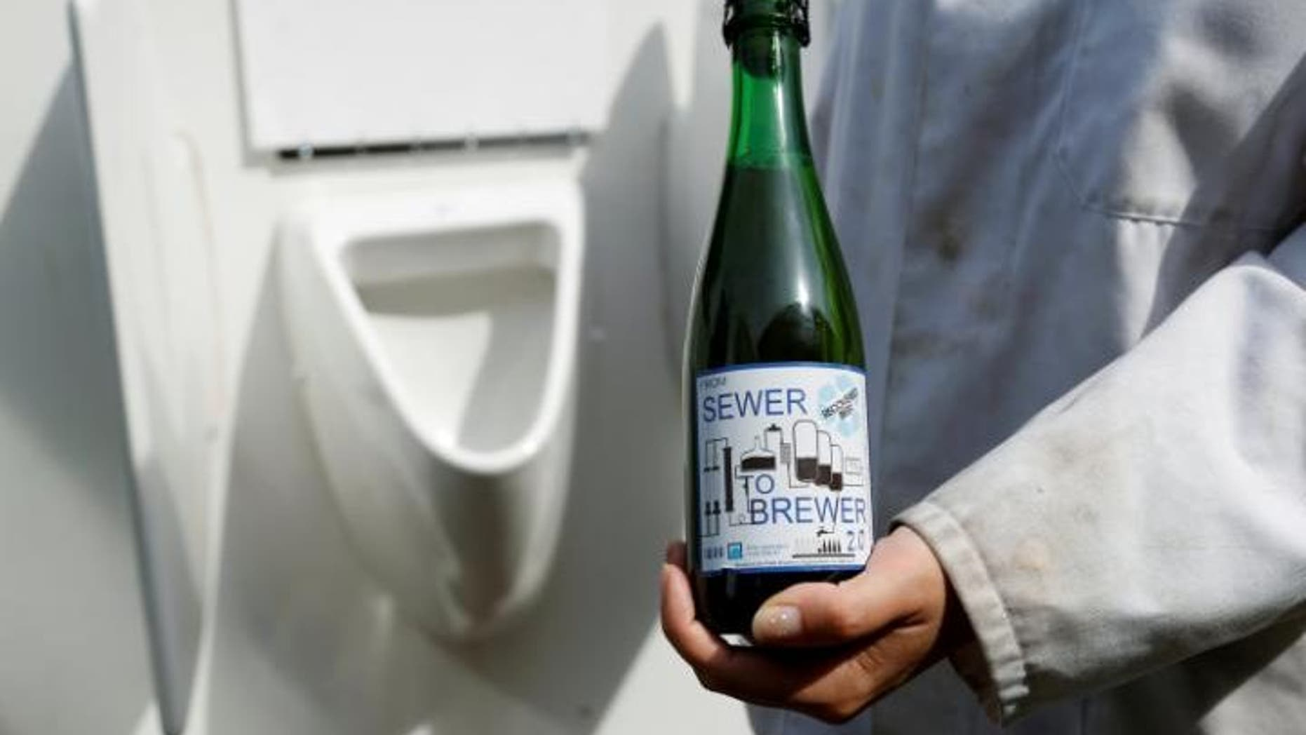 From sewer to brewer. This bottle brew was crafted with recycled urine.