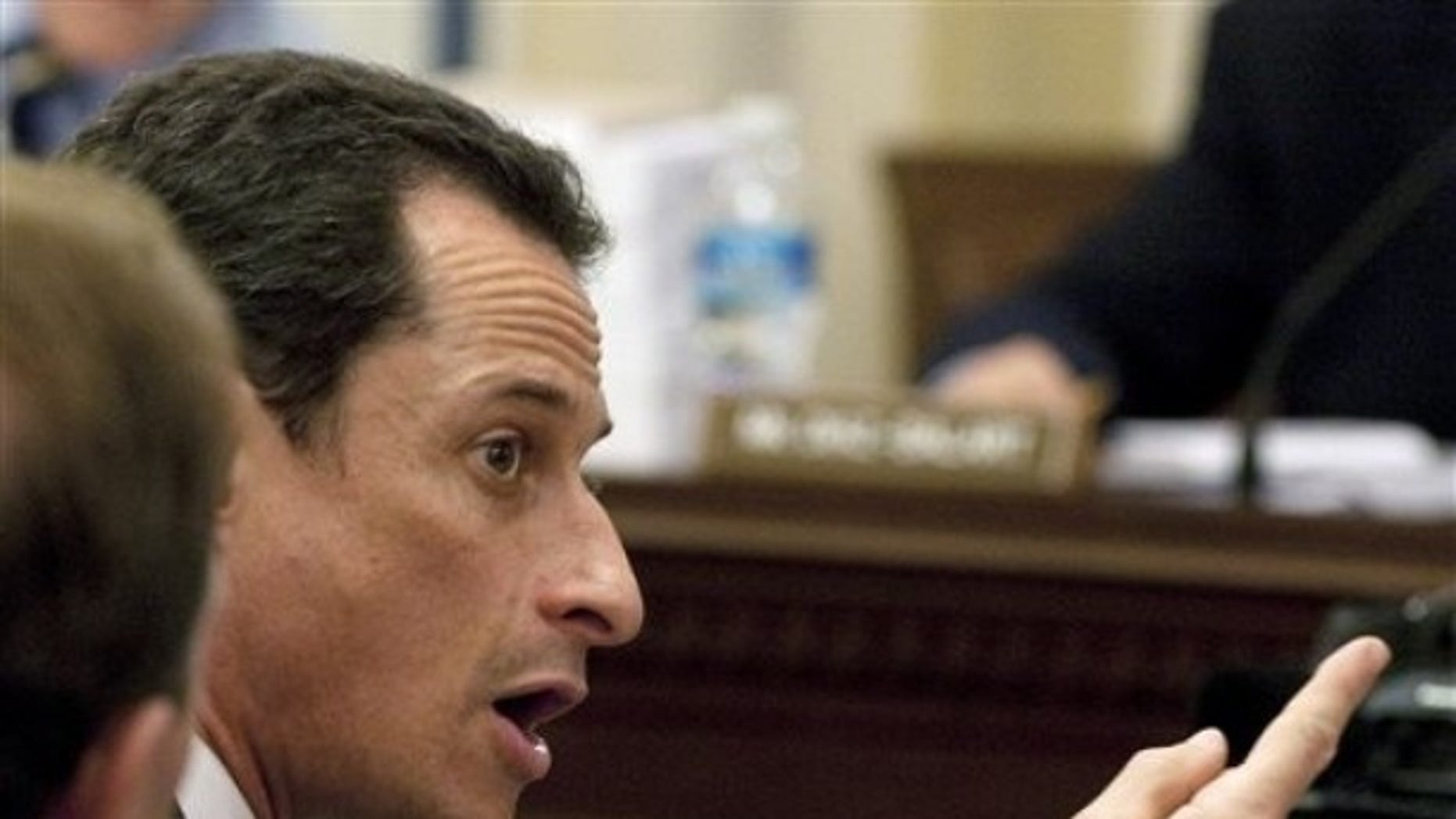 Rep. Anthony Weiner, D-NY, during the House Rules Committee meeting on Capitol Hill in Washington, Saturday, March 20, 2010. (AP)