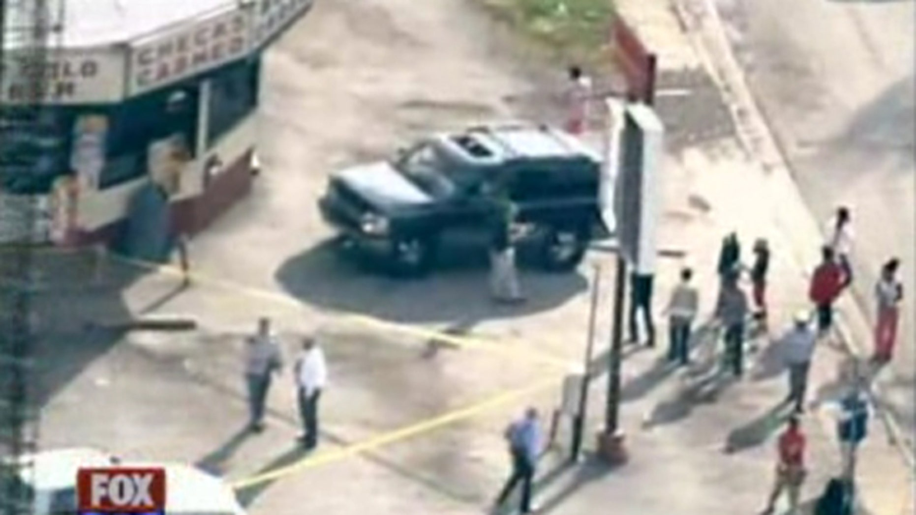 Gunfire reportedly broke out at three separate locations in the town of Wellston, a suburb of St. Louis.