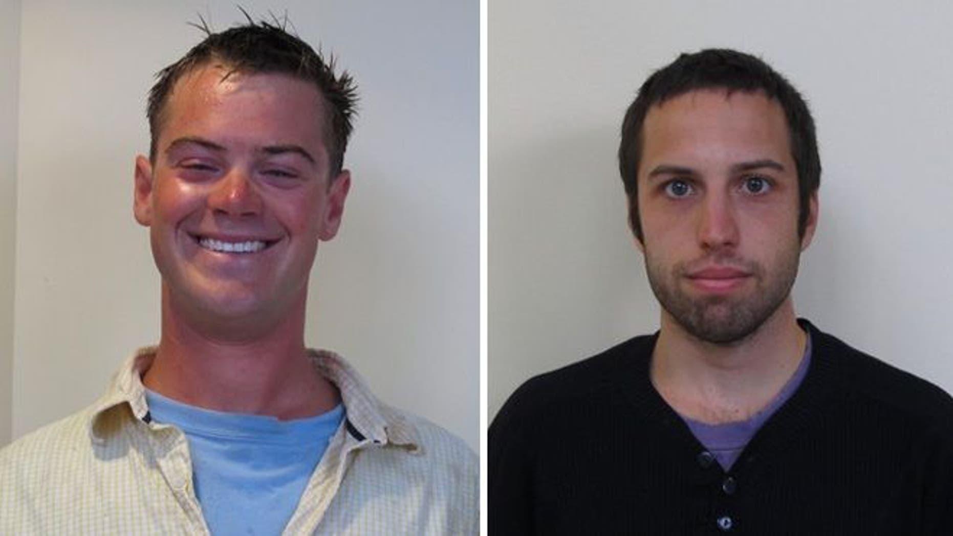 Prescott Wright, left, and Zachary Wells.