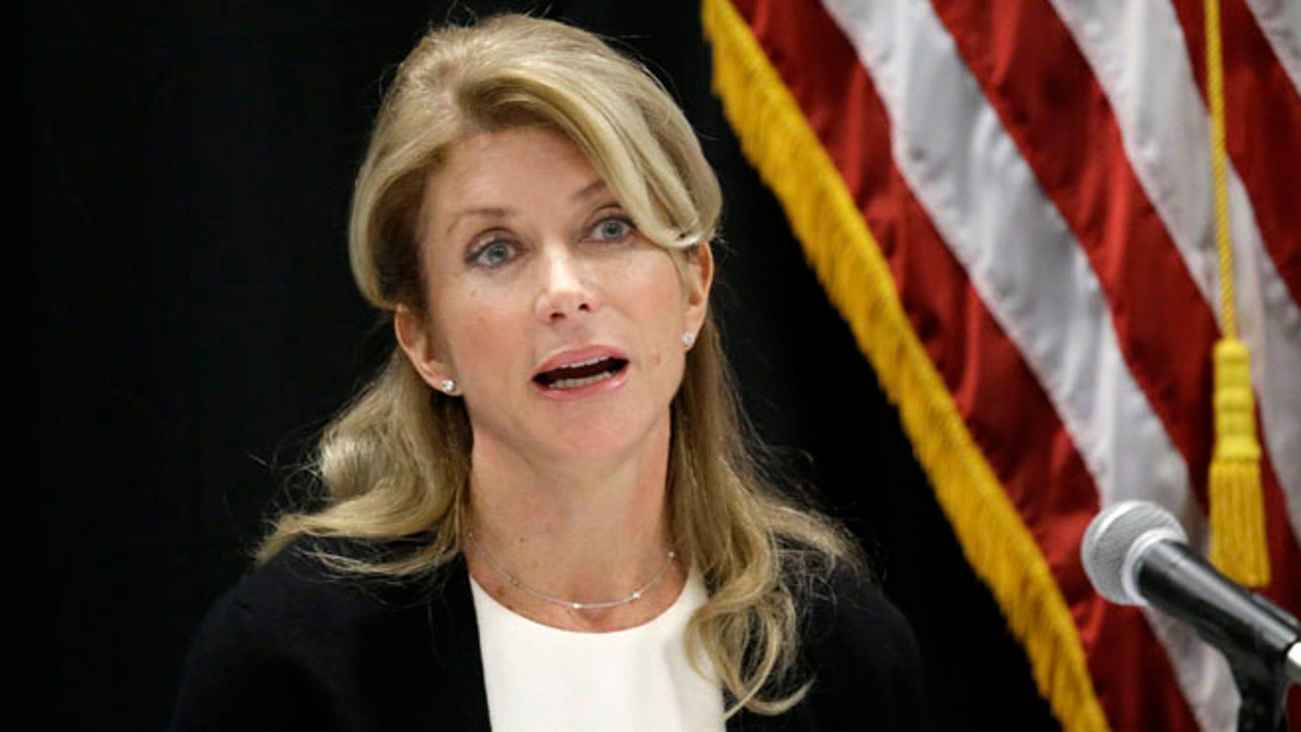 Jan. 9, 2014: Texas state Sen. Wendy Davis speaks at an education roundtable meeting in Arlington, Texas.