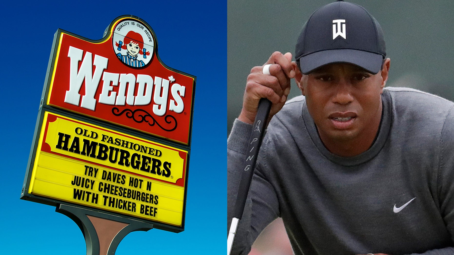 Wendy's took a break from trolling McDonald's to troll Tiger Woods.
