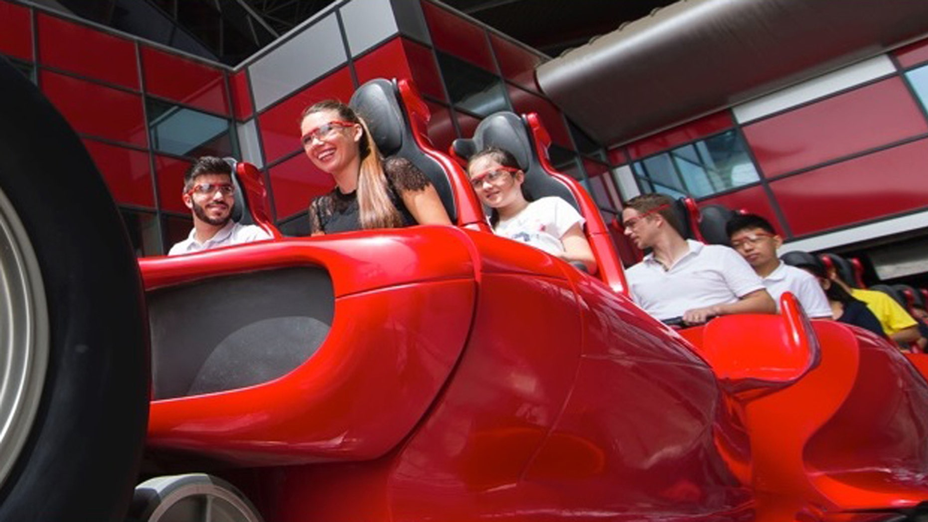 Formula Rossa in Abu Dhabi is the world's fastest roller coaster.