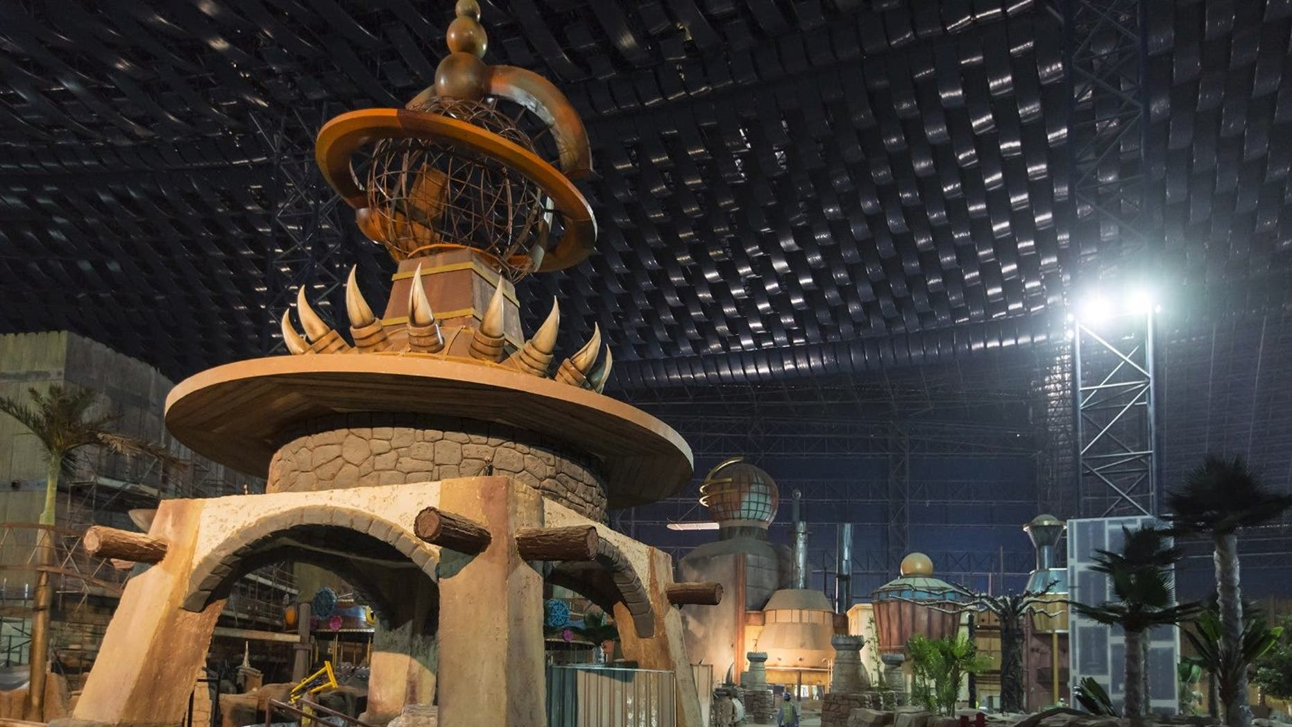 There are 70 life sized prehistoric beasts in the Dinosaur Zone-- one of four themed zones at the world's largest indoor theme park.