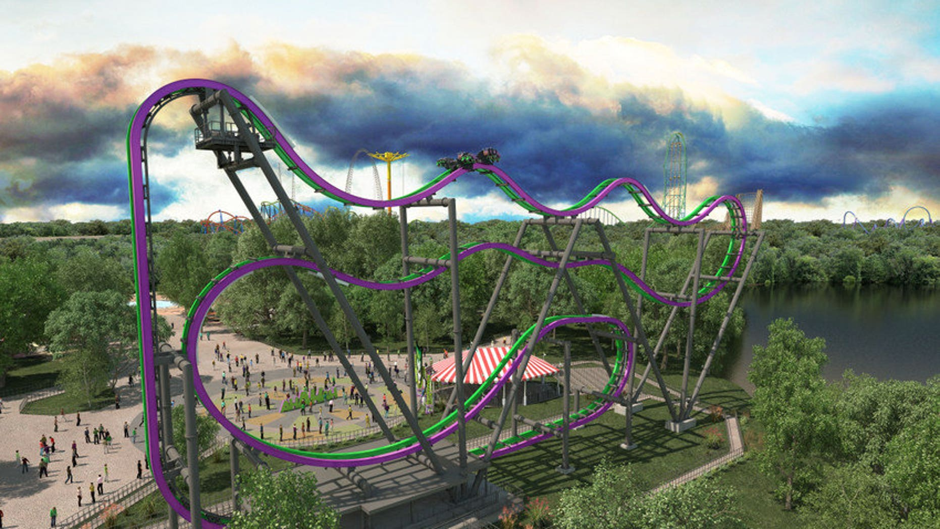The Joker coaster is scheduled to open this weekend in Jackson, N.J.