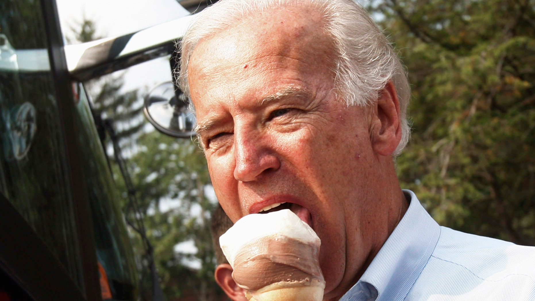 In this file photo, former vice president Joe Biden enjoys ice cream during a campaign stop at Windmill Ice Cream Shop in Aliquippa, Pennsylvania, August 29, 2008.