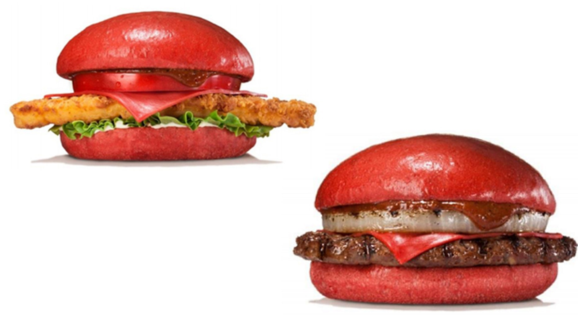 """The """"Aka Samurai"""" burgers are named for their red hue."""