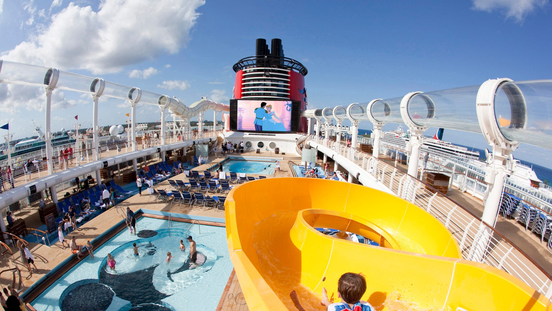 Best Overall: This play area for children features a Mickey Mouse-shaped pool and an oversized version of Mickey's hand.