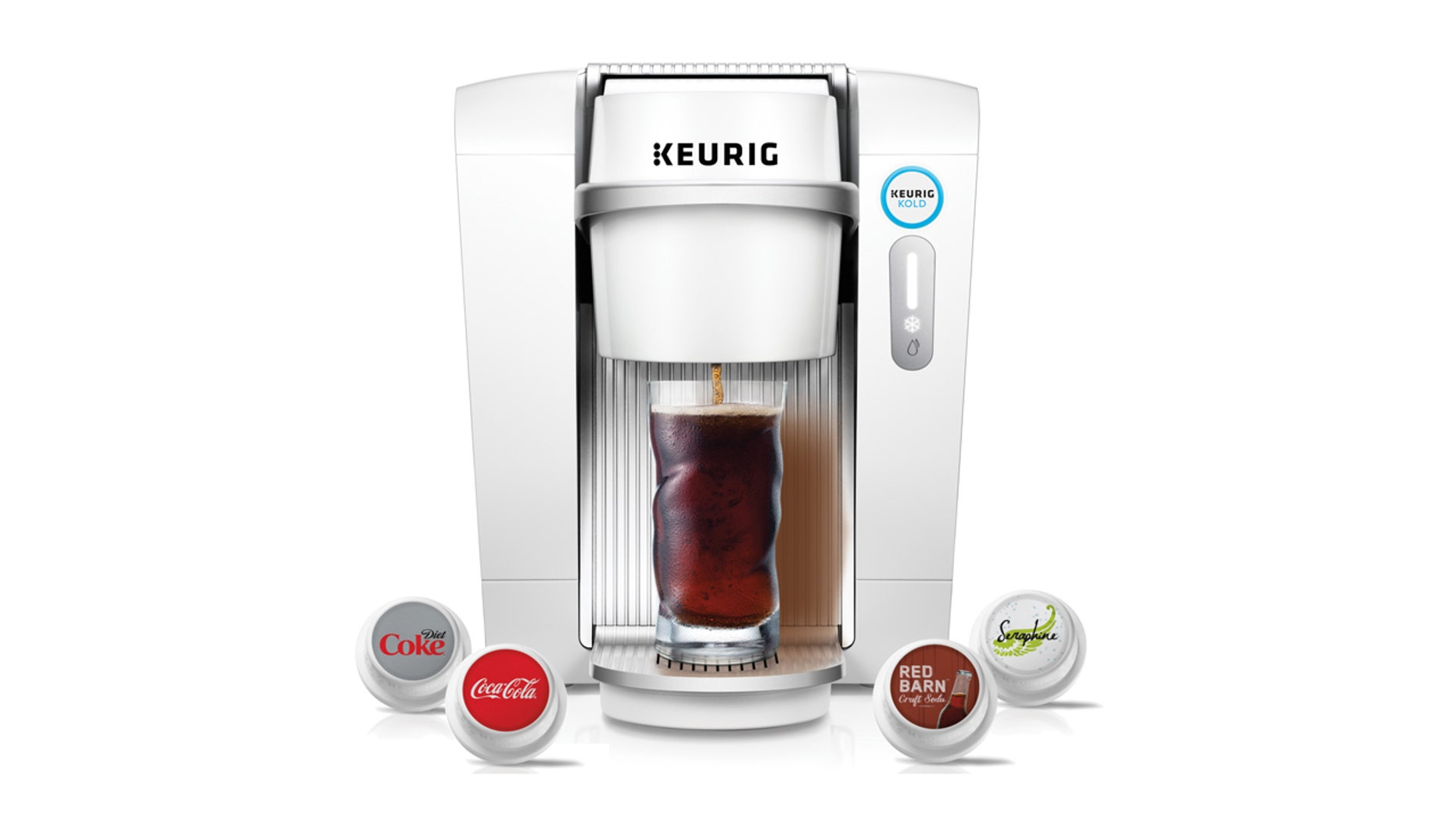 The Keurig Kold machine with single serving pods is on sale today.