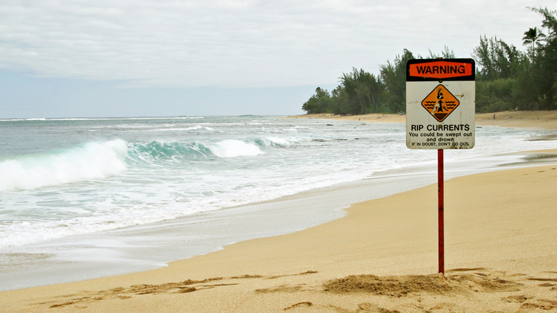 Beware sudden rip currents at placid-looking beaches.