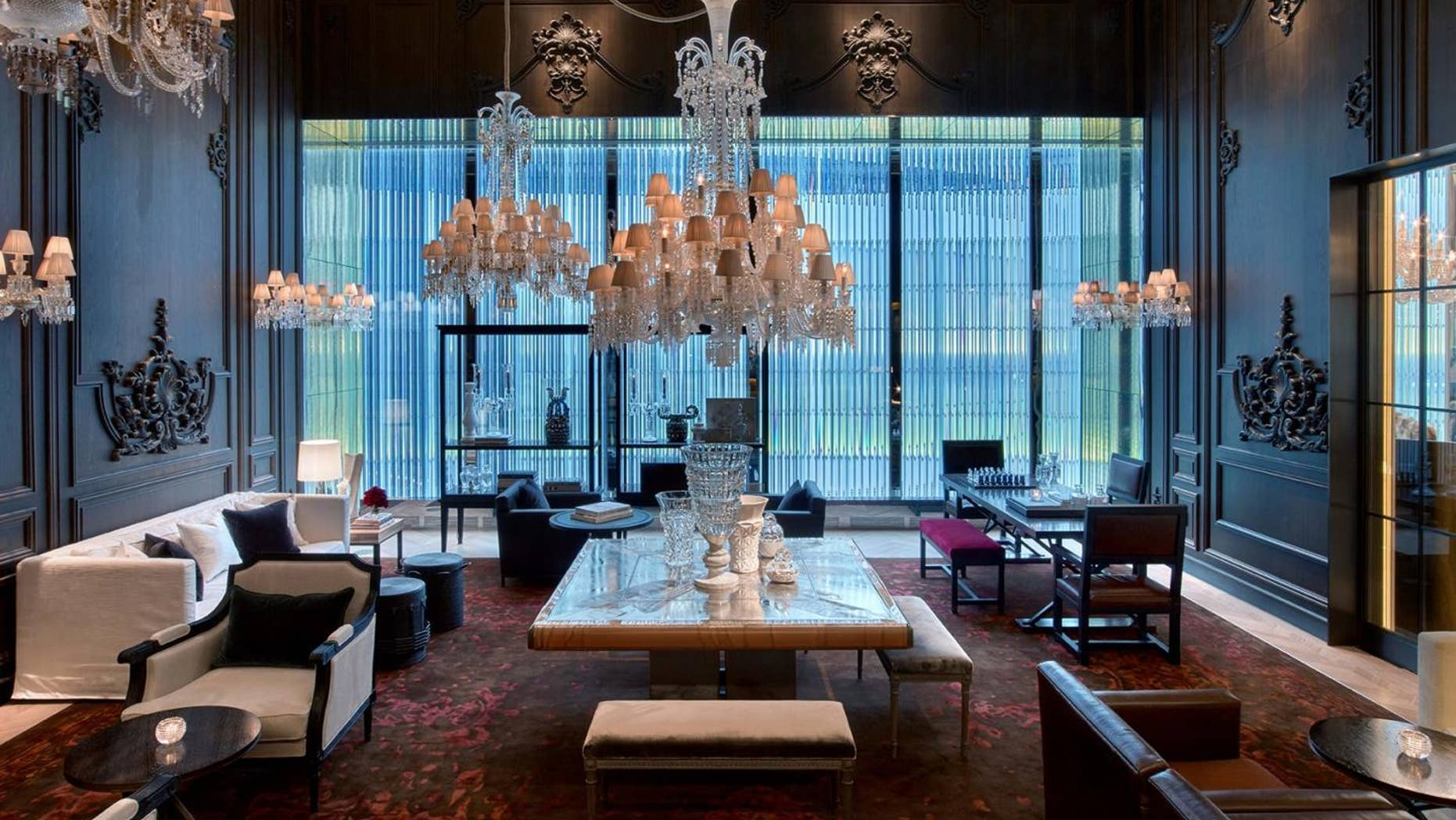 The Petit Salon is dripping in crystals at this midtown Manhattan hotel.