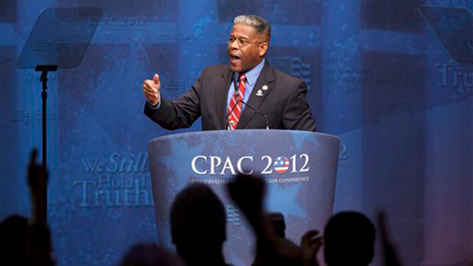 Feb. 10, 2012: Rep. Allen West speaks at the Conservative Political Action Conference in Washington.