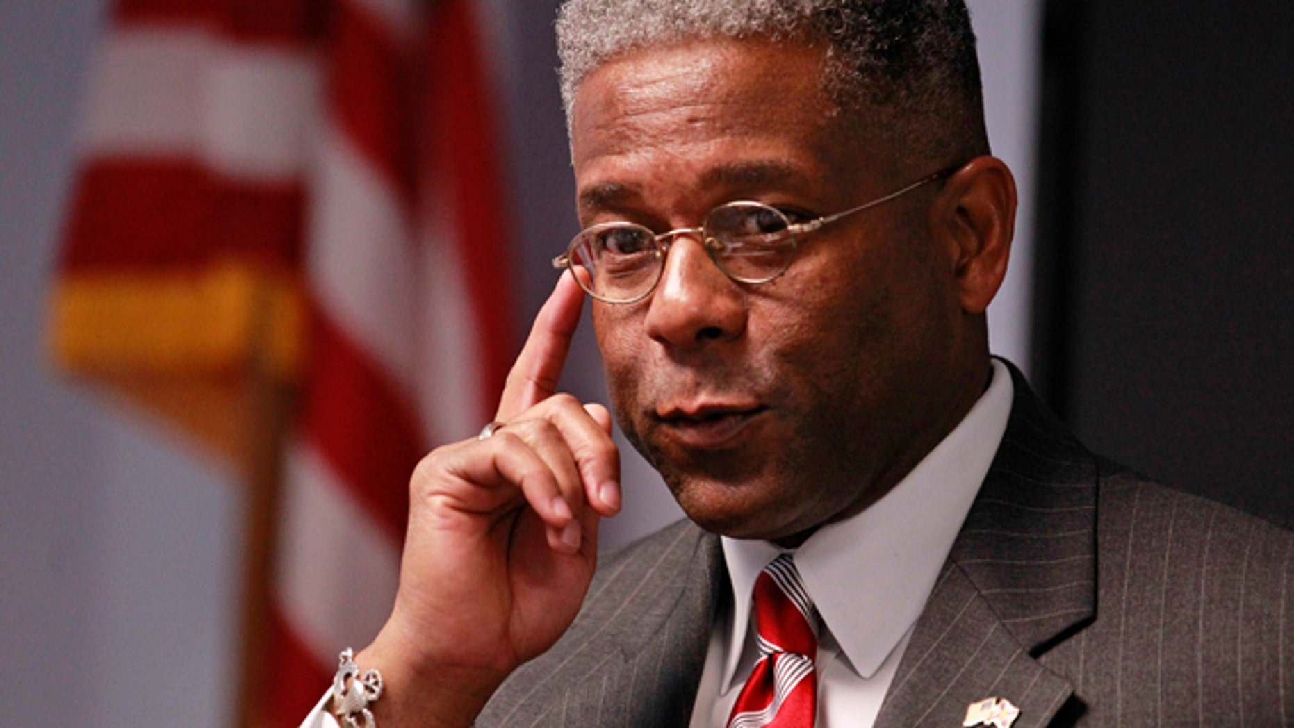 FILE: Oct. 18, 2012: Republican U.S. Rep. Allen West listens to a question at a campaign stop in Boca Raton, Florida.