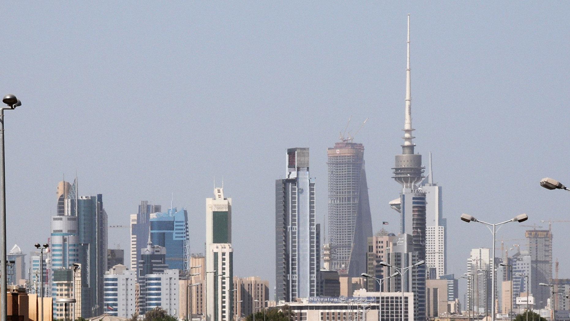 The Kuwait City skyline, 2009.