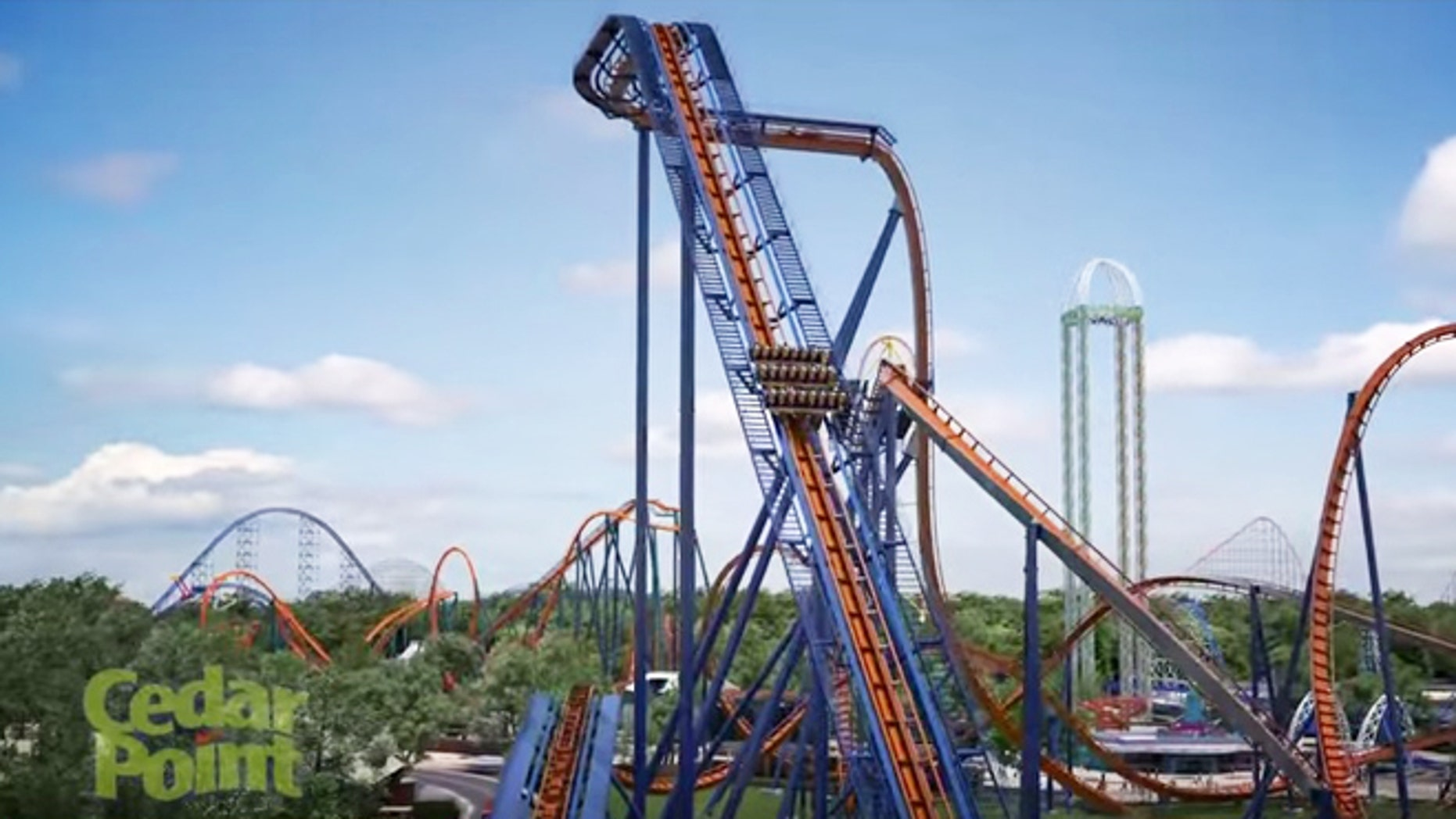 The Valravn dive coaster is set to break 10 records for Cedar Point.