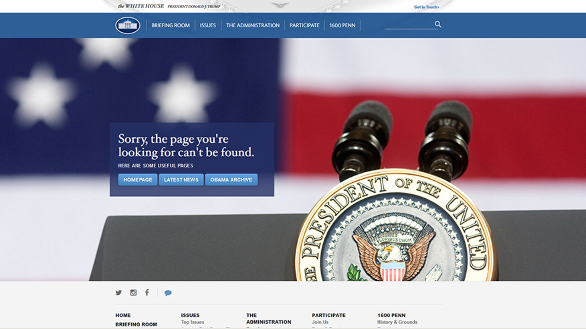 White House takes down all Spanish-language content from its