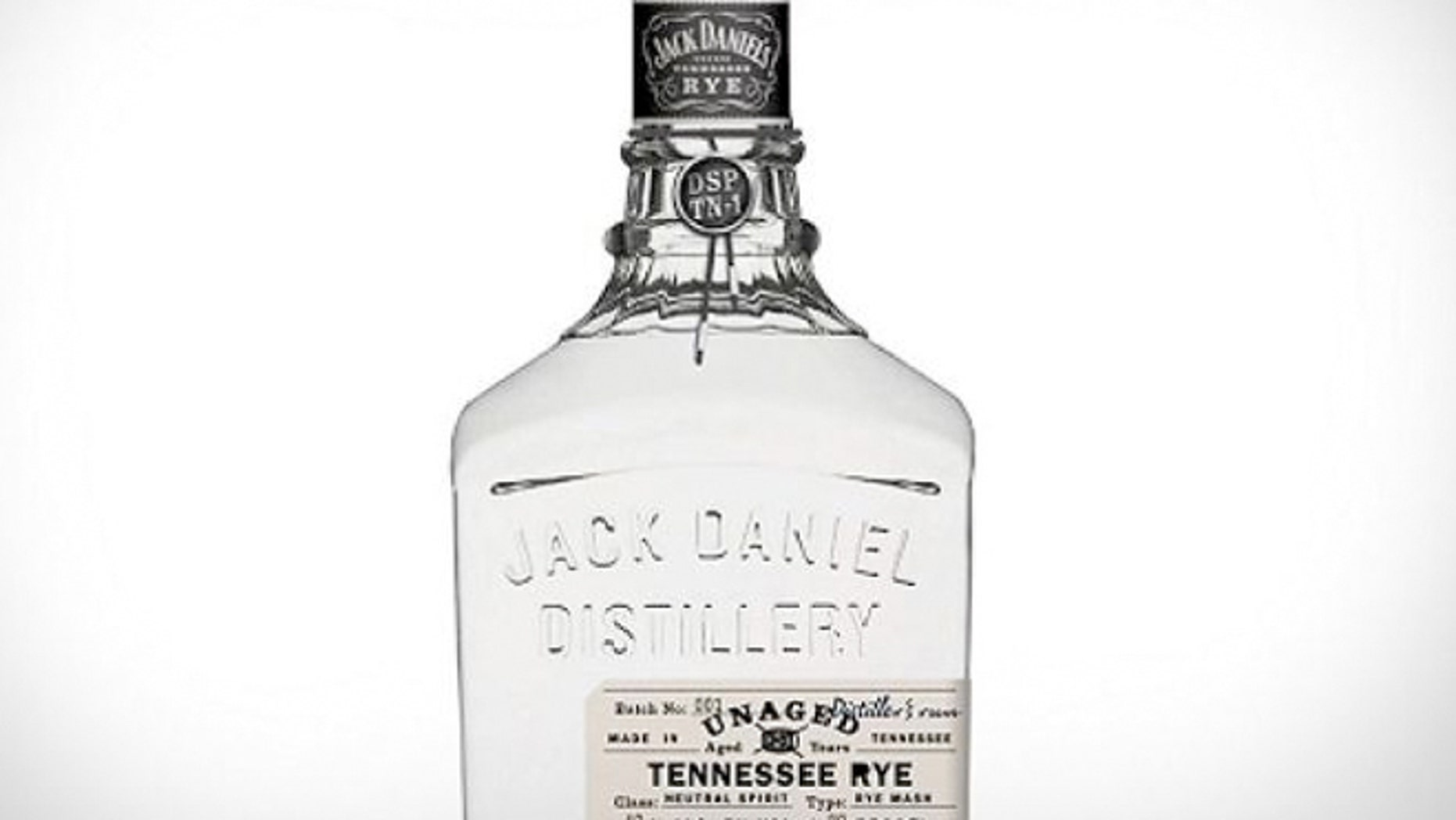 "Jack Daniel's distillery has formally released a ""white dog"" unaged rye whiskey."
