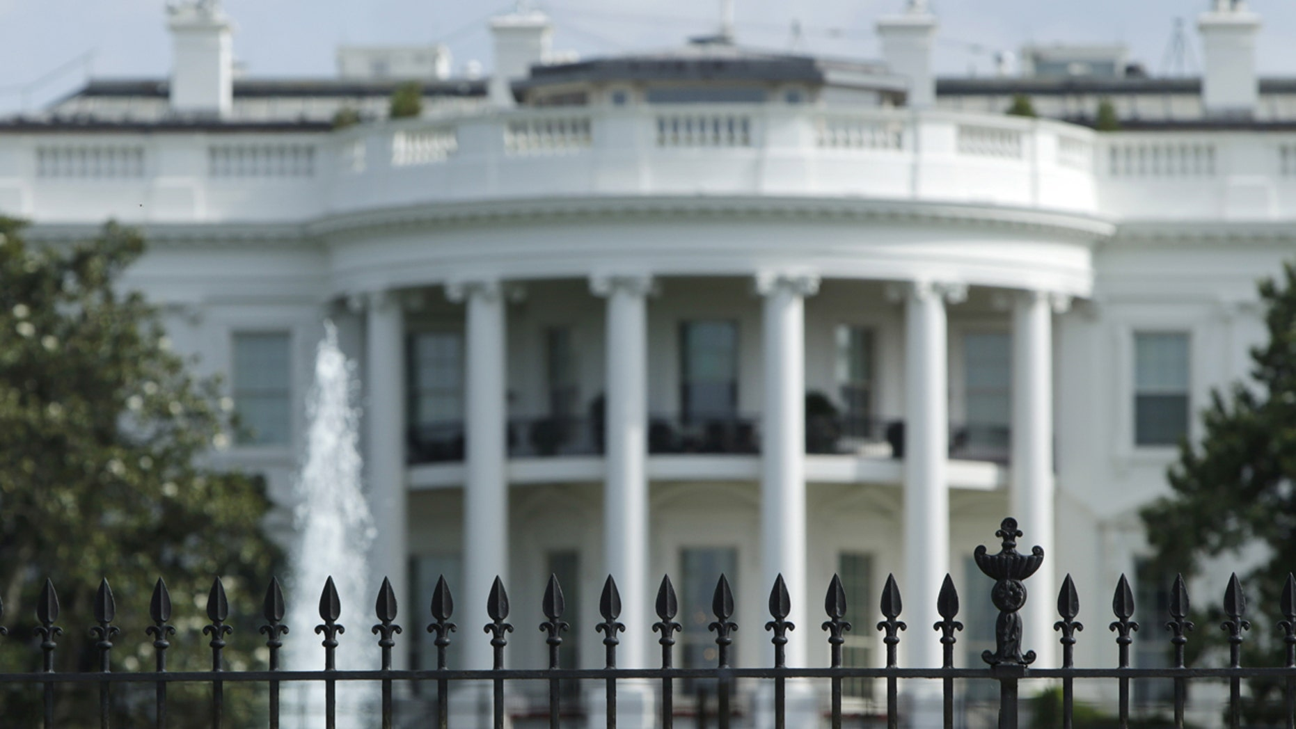 The original South Lawn security fencing is seen at the White House in Washington May 28, 2015.