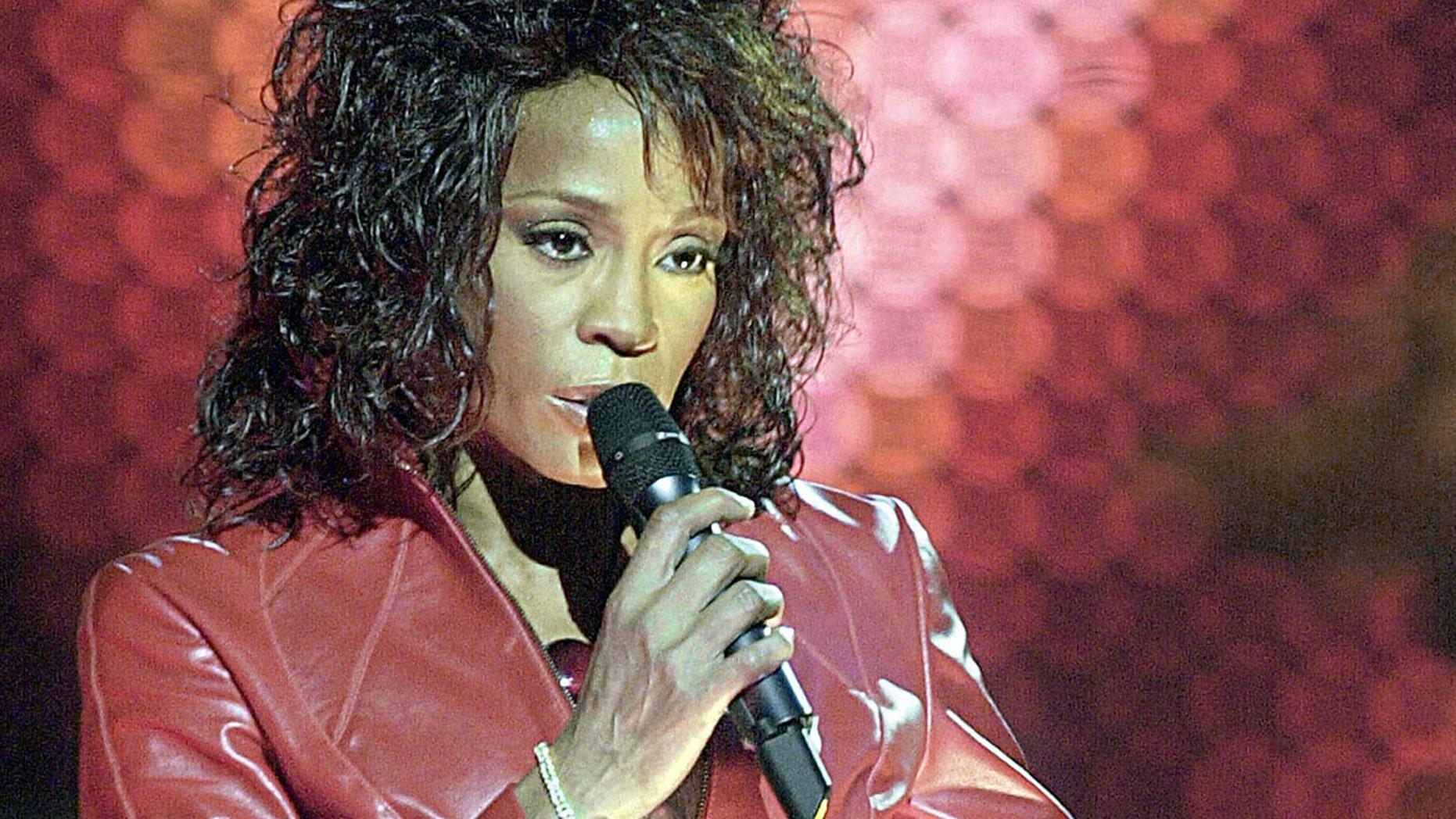 Whitney Houston performs on November 24, 2002.