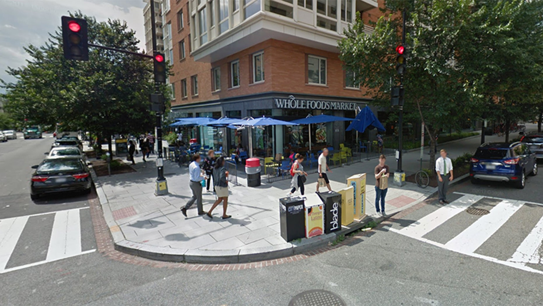 A man allegedly impersonating a cop at a Washington, D.C.-area Whole Foods slapped handcuffs on a real cop trying to arrest him.