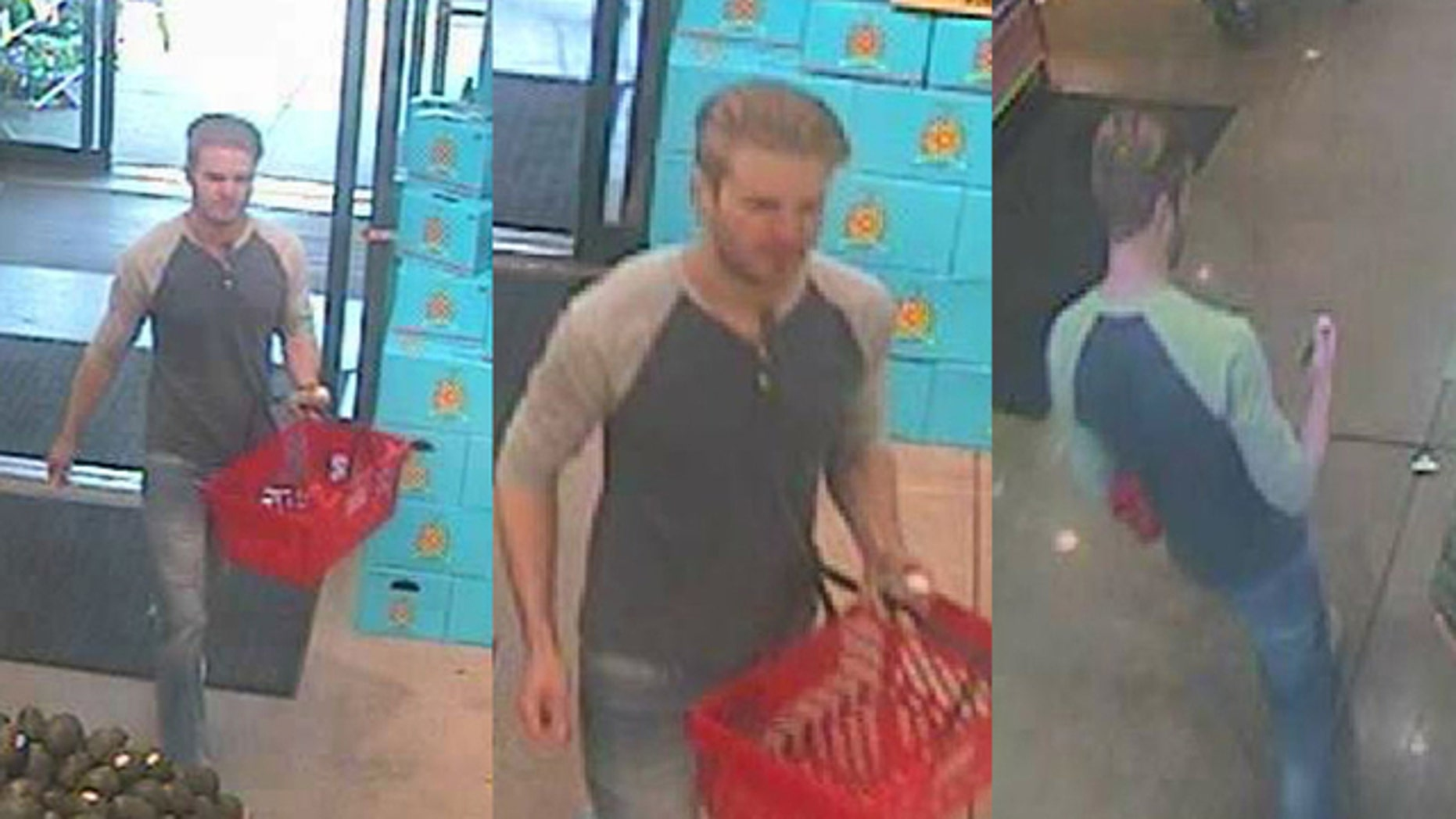 Surveillance images of the suspect.