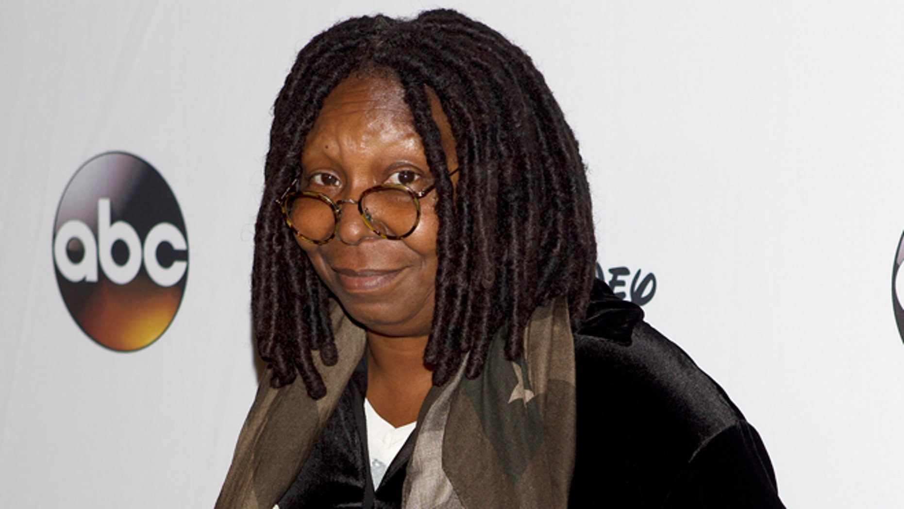 """May 14, 2014. Actress Whoopi Goldberg arrives for """"A Celebration of Barbara Walters Cocktail Reception"""" in New York."""