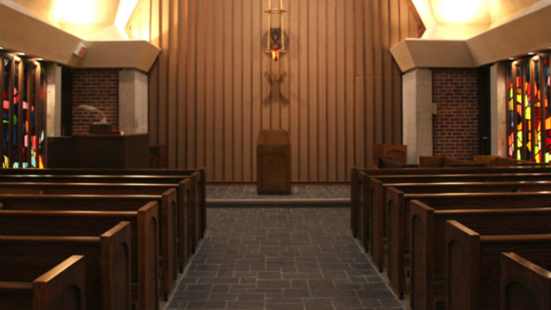 Wichita State University chapel before its renovation (Courtesy Wichita State).