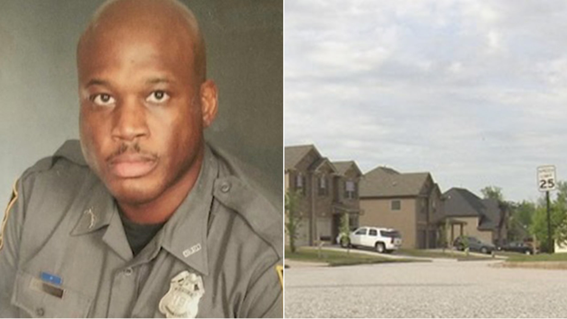 Carlos Wicker, a former DeKalb County police officer, said he fired his gun at a would-be robber outside his home.