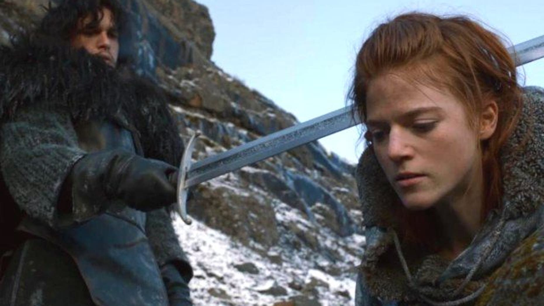 Jon Snow and wilding Ygritte, in less happy times, on 'Game of Thrones.'