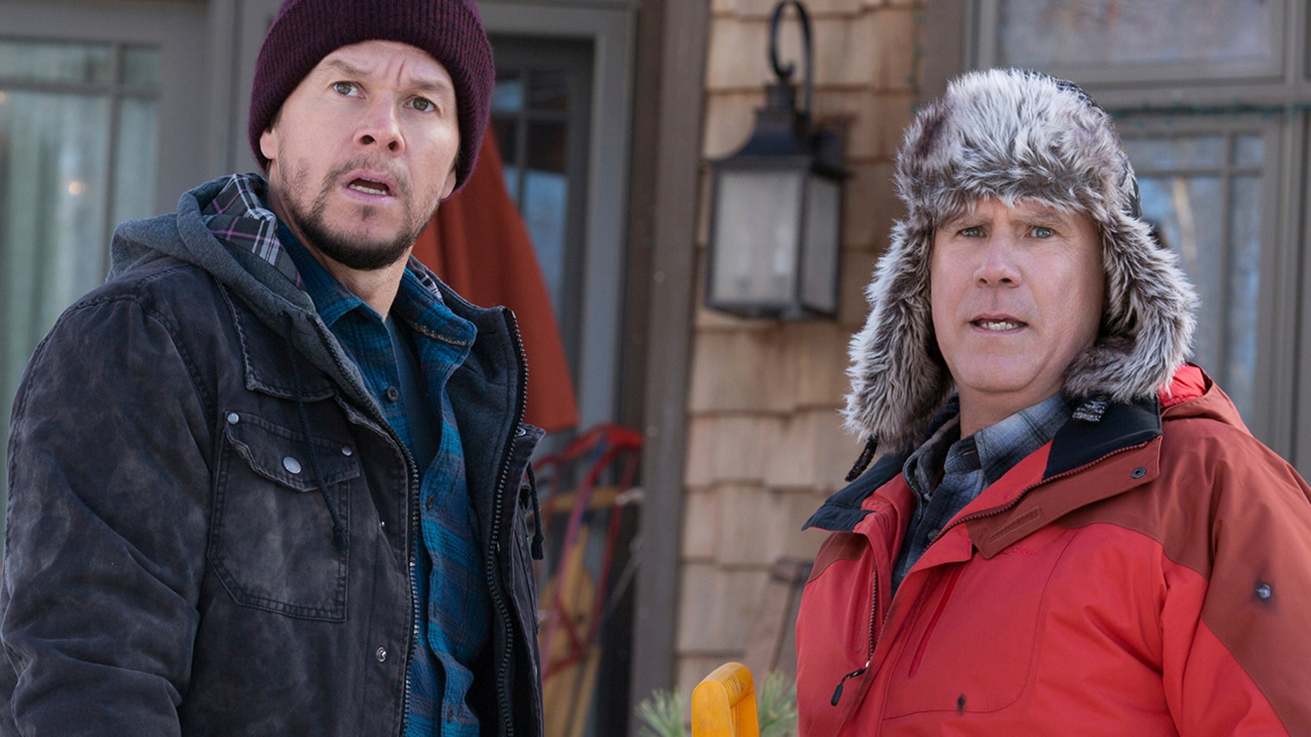 """This image released by Paramount Pictures shows Mark Wahlberg, left, and Will Ferrell in """"Daddy's Home 2."""""""