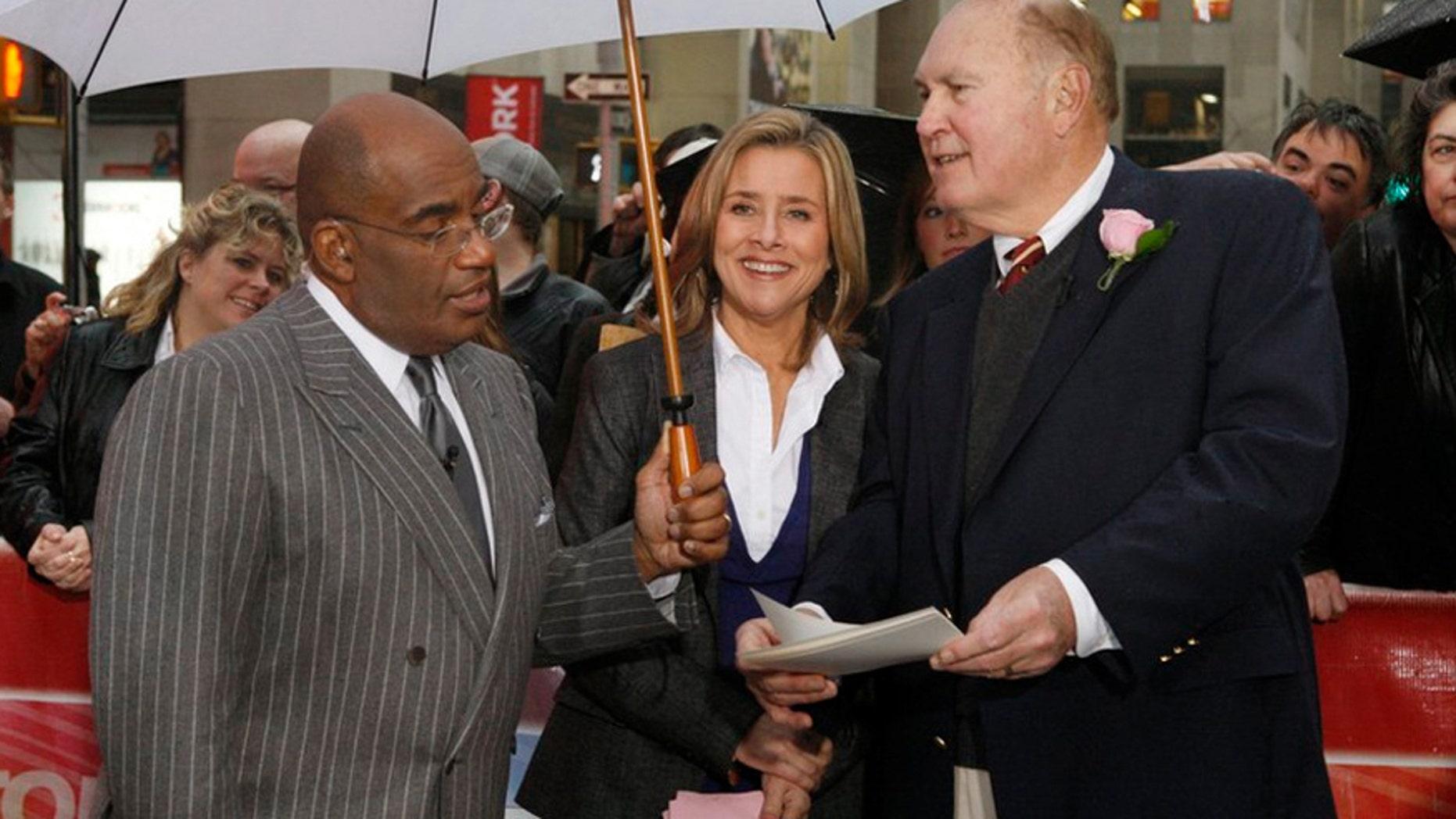 Pictured: (l-r) Al Roker, Meredith Vieira and Willard Scott.