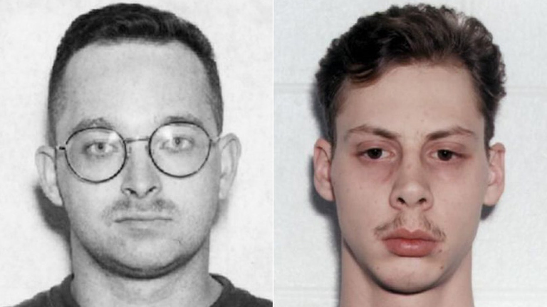 "Danial Williams, left, and Joseph Dick in photos after the arrests of the ""Norfolk Four."""