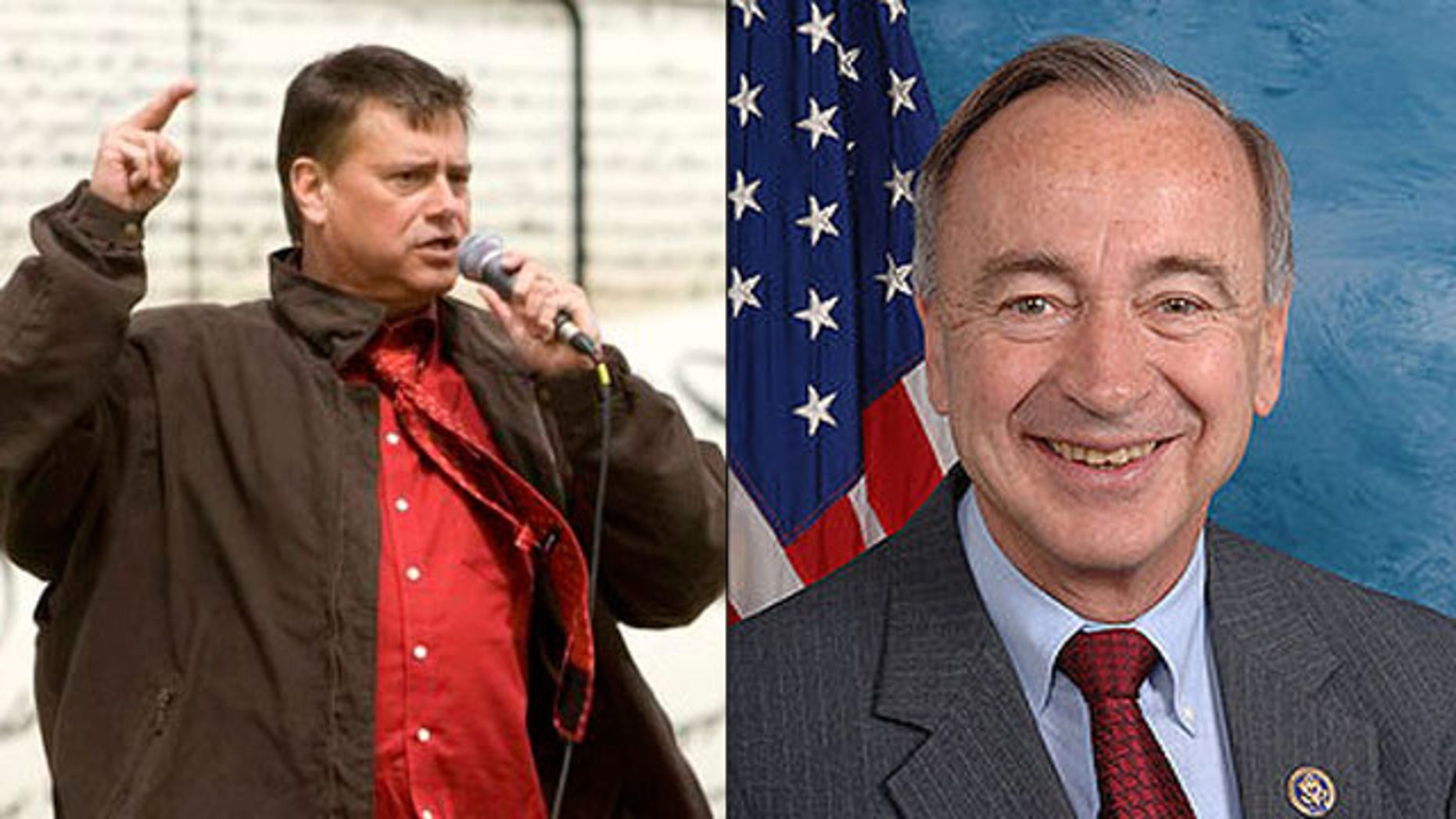 Shown here are Tea Party activist Mark Williams, left, and Rep. Walt Minnick. (AP/House.gov)