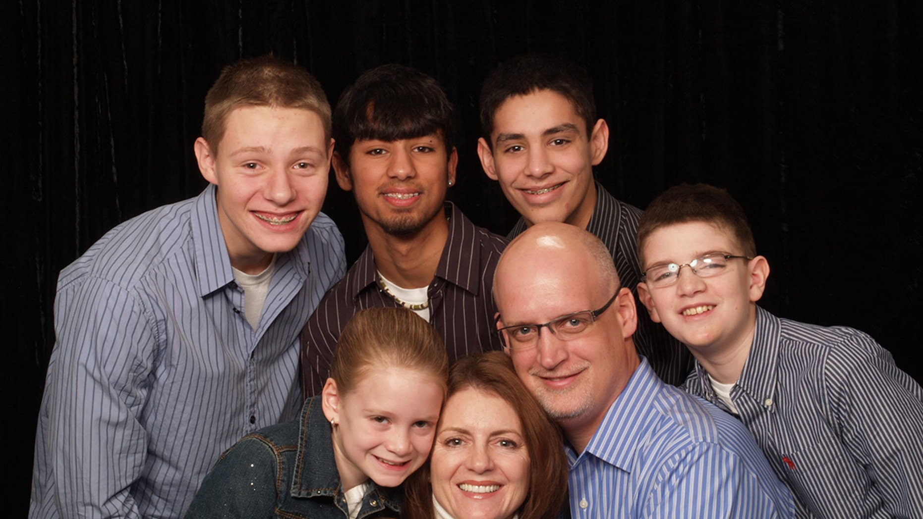 Kevin Williamson with his wife, Marcia, and their five children: Aidan, 20, Seth 18, who are adopted, Riley, 18, Mitch, 15, and Ainsley, 11.