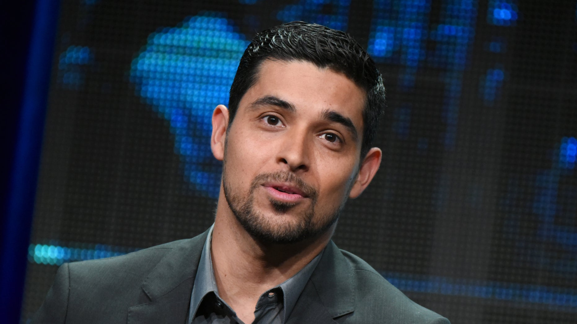 """Wilmer Valderrama participates in the """"Minority Report"""" panel at the Fox Summer TCA Tour at the Beverly Hilton Hotel on Thursday, Aug. 6, 2015, in Beverly Hills, Calif. (Photo by Richard Shotwell/Invision/AP)"""