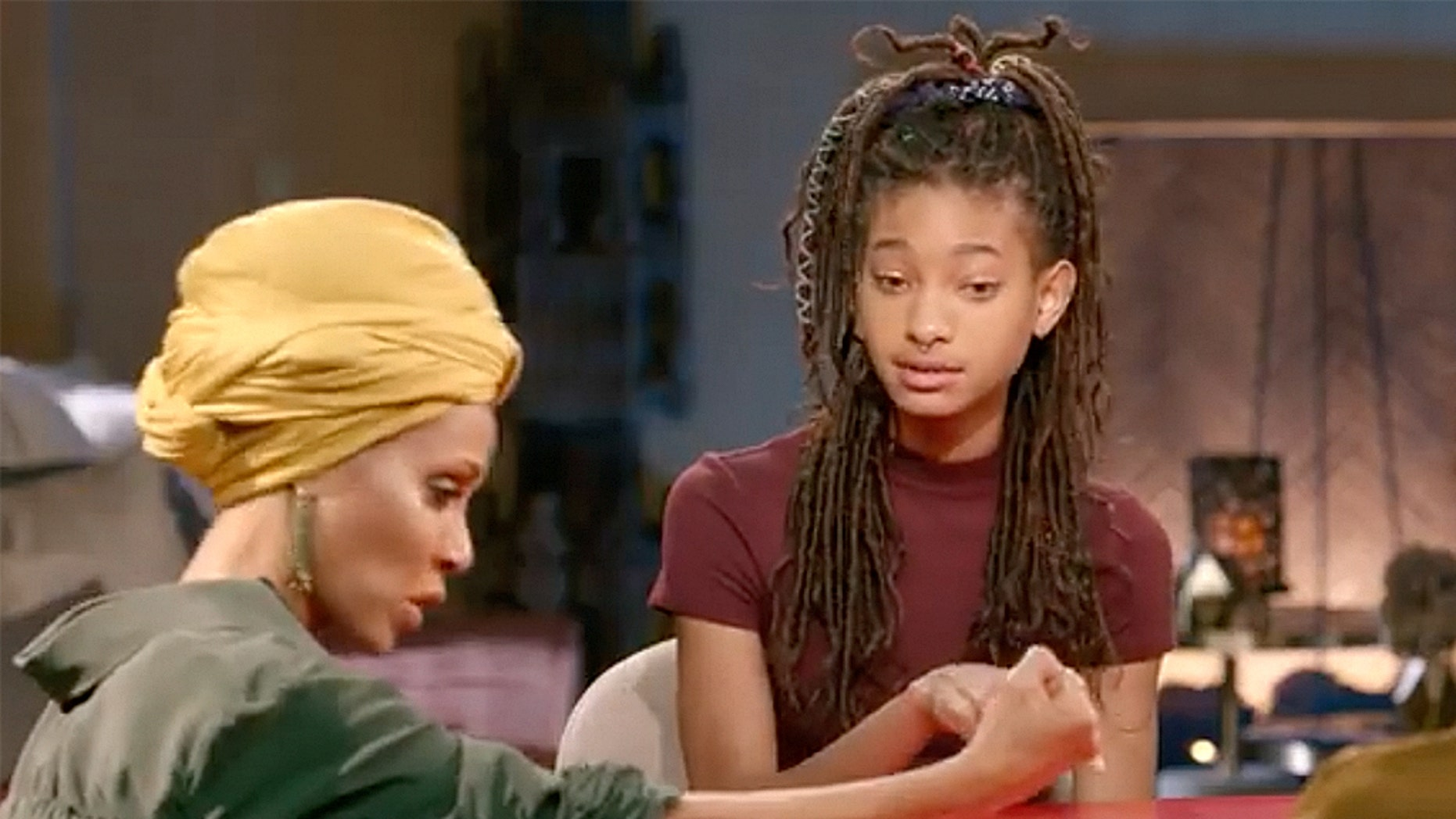 "Willow Smith shocks her mother on the Monday episode of ""Red Table Talk"" after revealing that she used to cut herself when she was much younger."