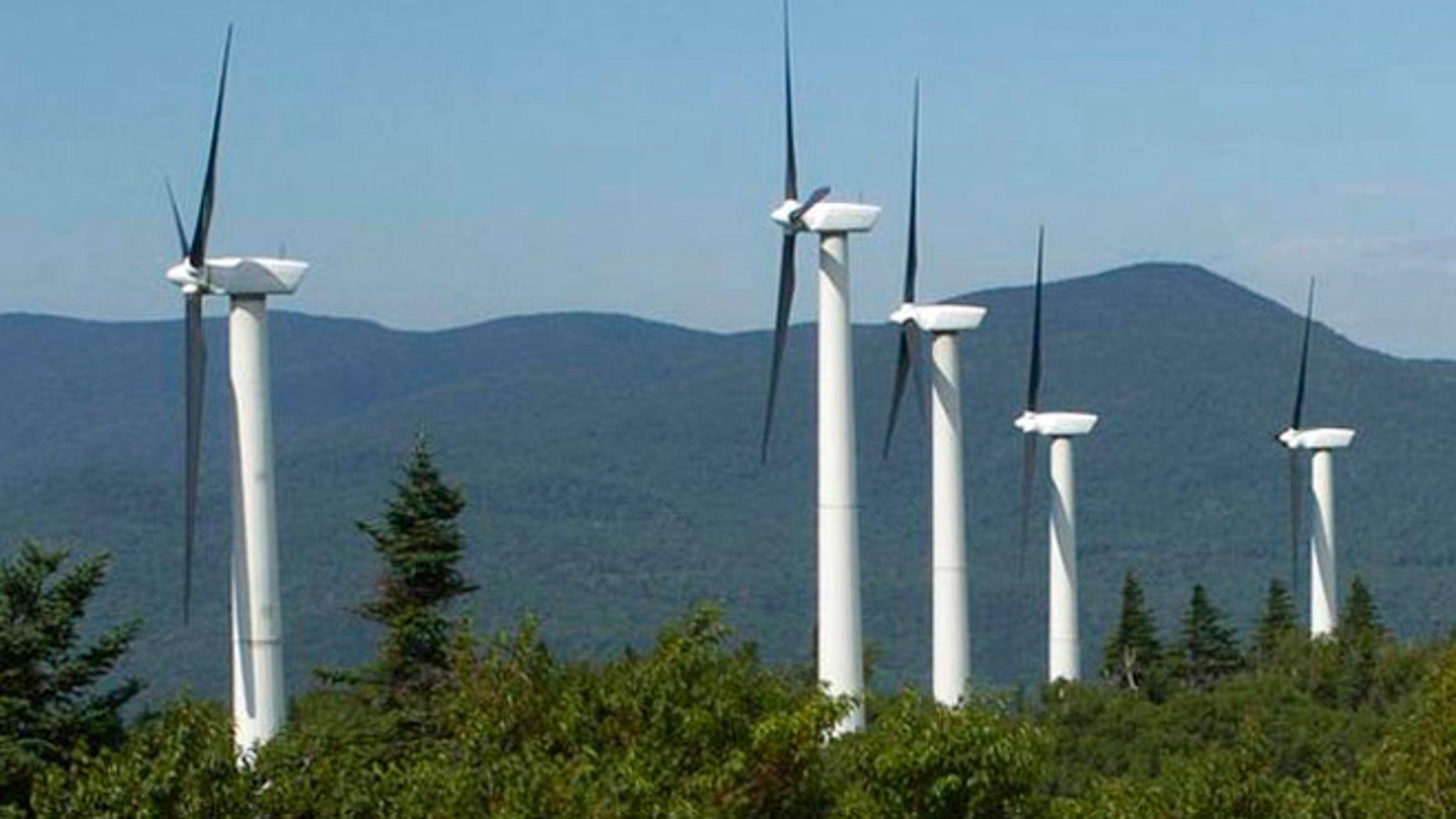 FILE: Undated: Wind turbines in Vermont.