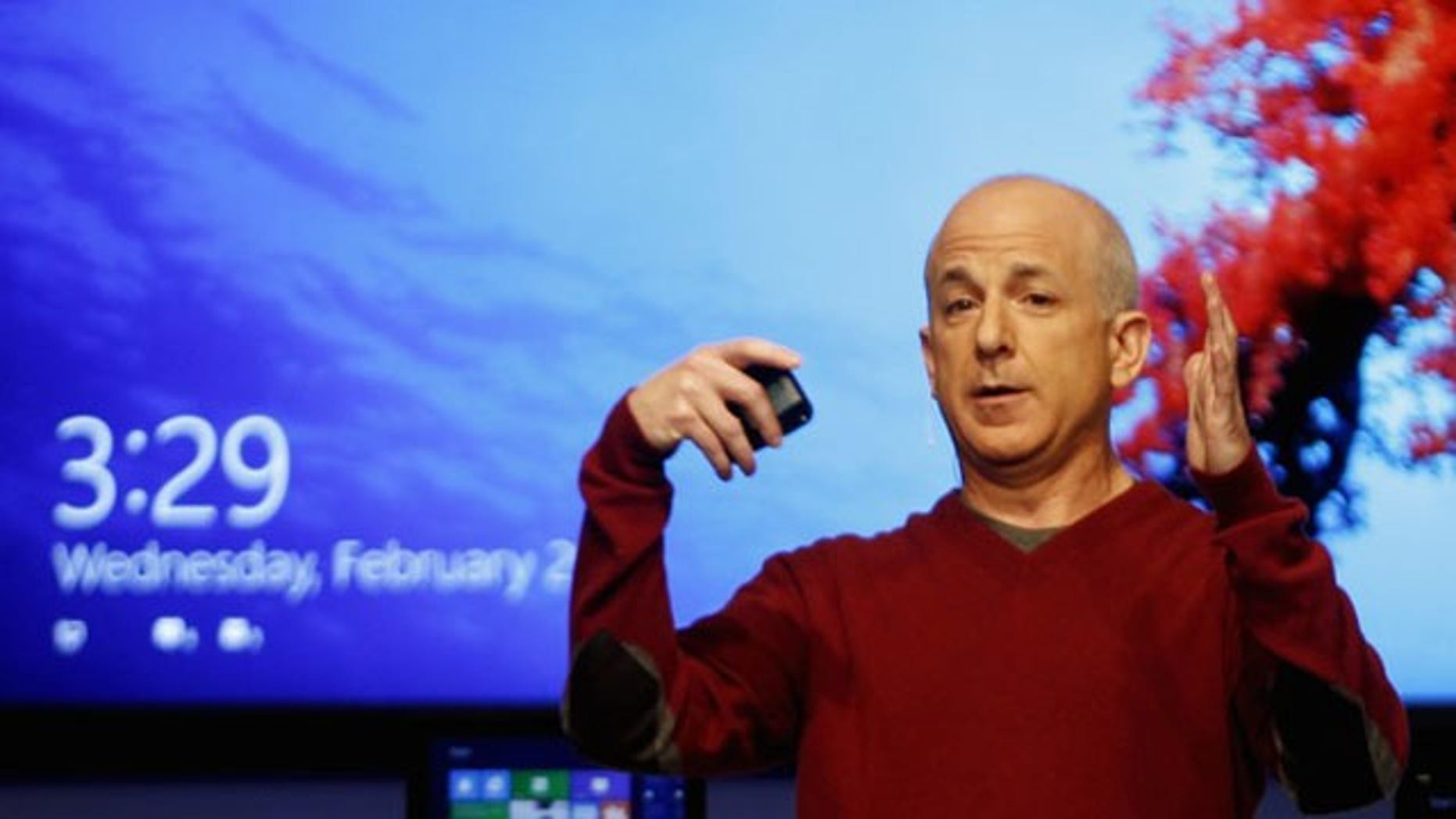 President of Windows and Windows Live Division Steven Sinofsky presents the new Windows in Barcelona.