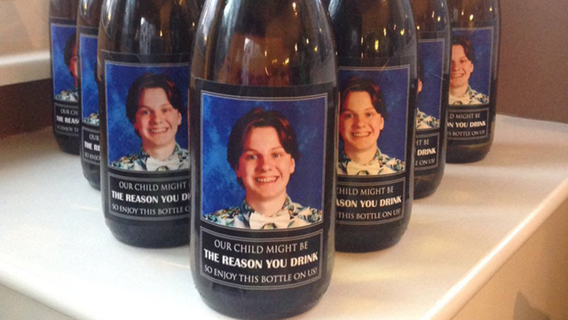 An elementary school teacher in Ohio received an unusual personalized bottle of wine as a Christmas gift.